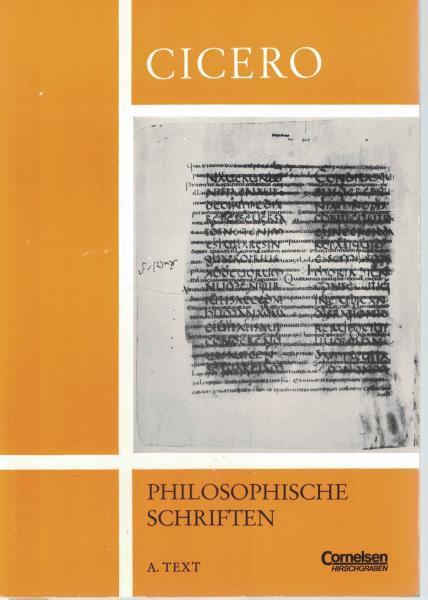 Konvolut 2 Bände: Auswahl aus de republica und anderen philosophische Schriften,1.: A. Text; 2.: B. Erläuterungen - Cicero, Marcus Tullius