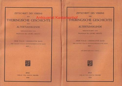 zwei (2) Bände: Zeitschrift des Vereins für: Mentz, Georg;