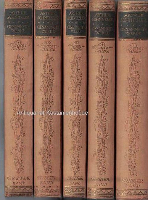5 (fünf) Bände: Gesammelte Werke von Arthur: Schnitzler, Arthur