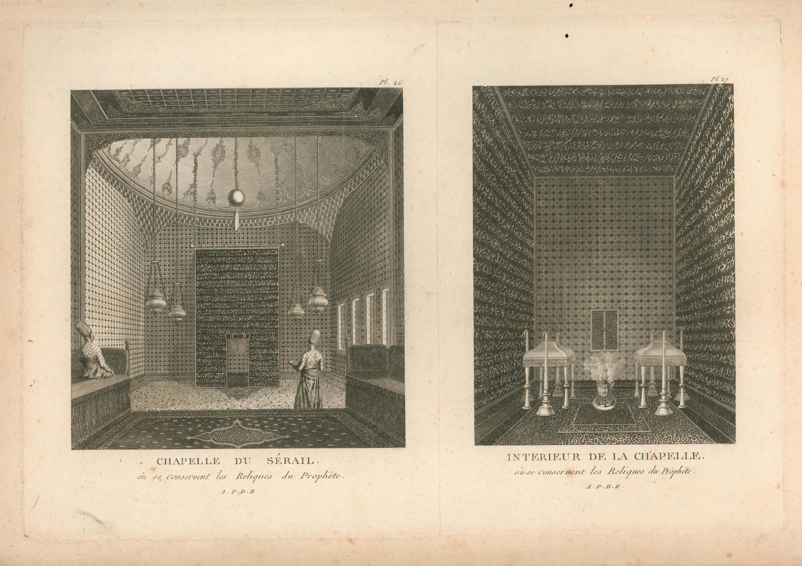 Interieur de la Chapelle Ou se conservent: unleserlich Yarin/ Varin