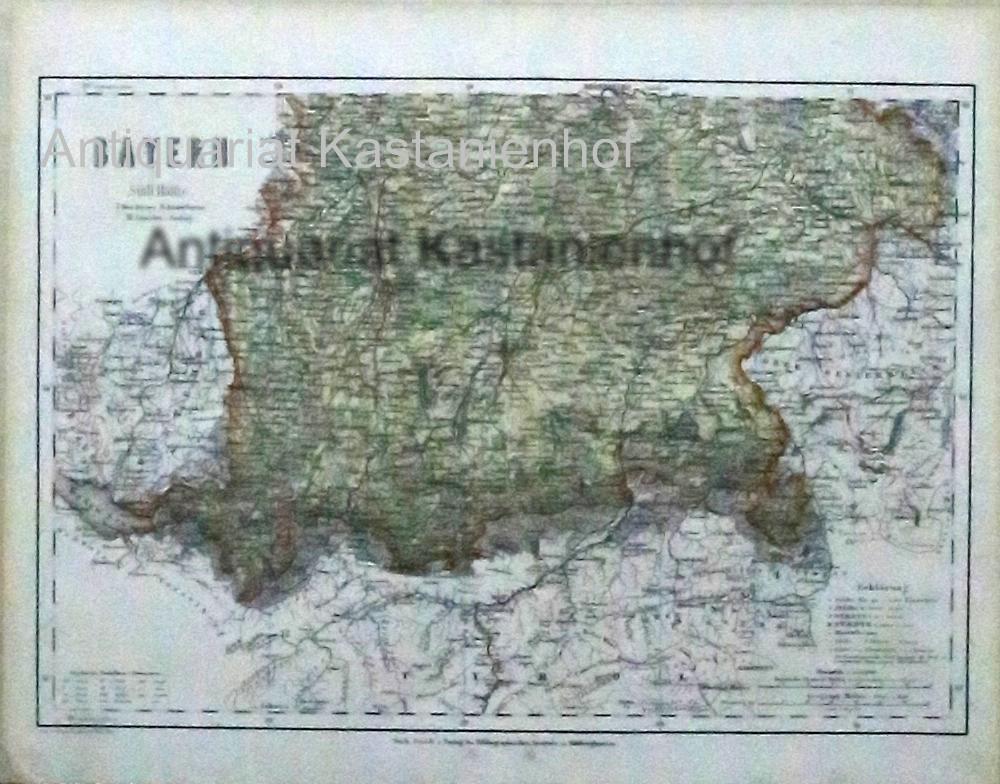 Bayern Südliche Hälfte von 1867,Maßstab 1:1.500.000: Historische Landkarte KEIN