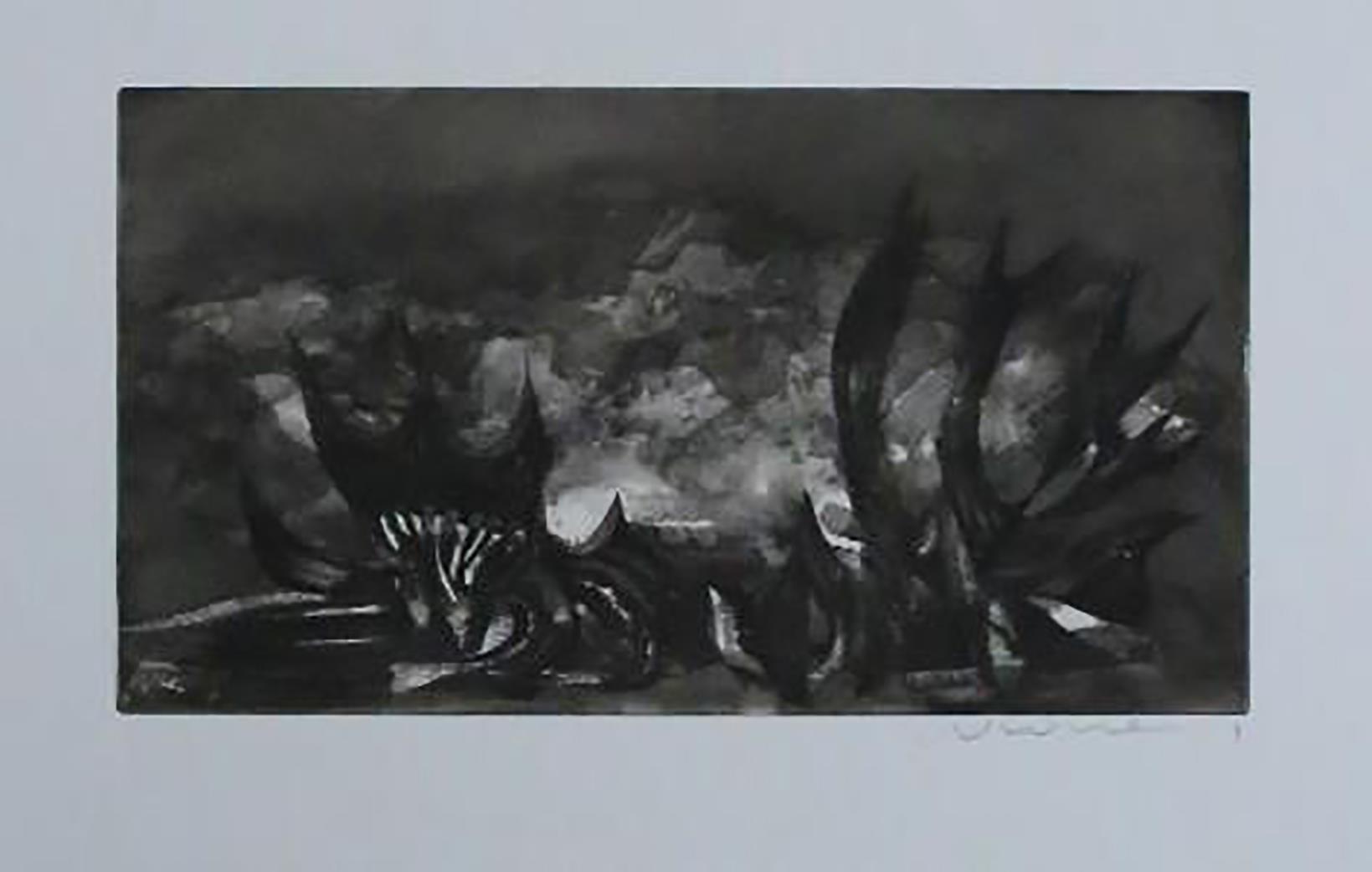 o.T, abstrakte Moderne Kunst: W*****y Unleserlich