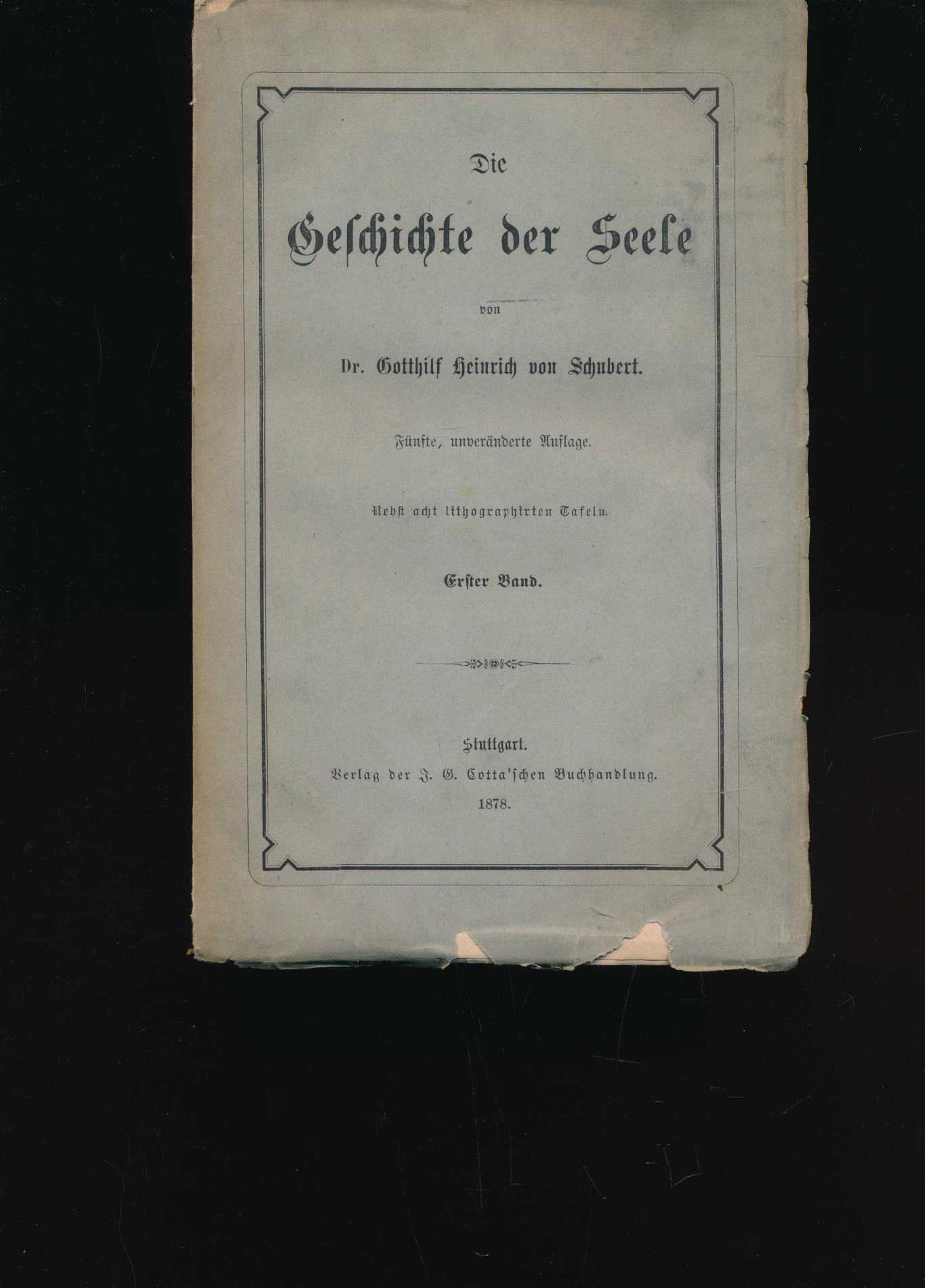 Die Geschichte der Seele, Erster Band,8 Lithographien,8: Schubert, Gotthilf Heinrich