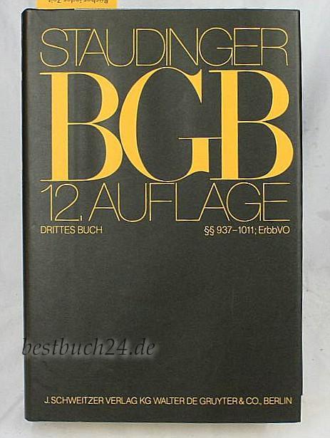 bgb 12 auflage von staudinger zvab. Black Bedroom Furniture Sets. Home Design Ideas
