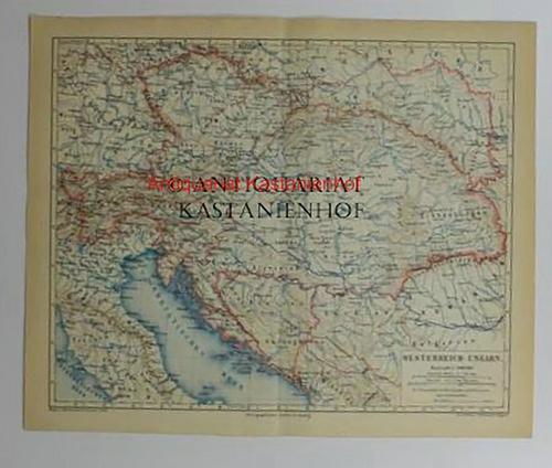 Oesterreich - Ungarn von 1874,Maßstab 1:5.000.000: Historische Landkarte KEIN