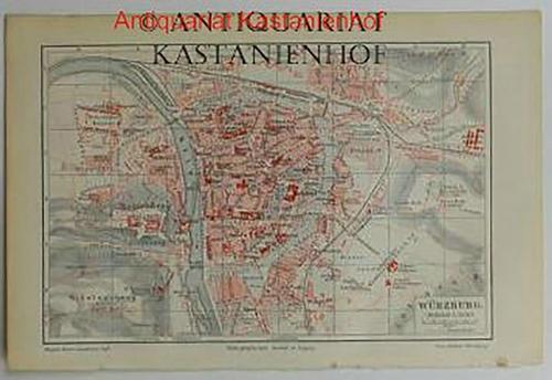 Würzburg von 1897,Maßstab 1:21.000: Historische Landkarte KEIN