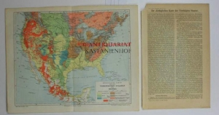 Geologische Karte von den Vereinigte Staaten und: Historische Landkarte KEIN