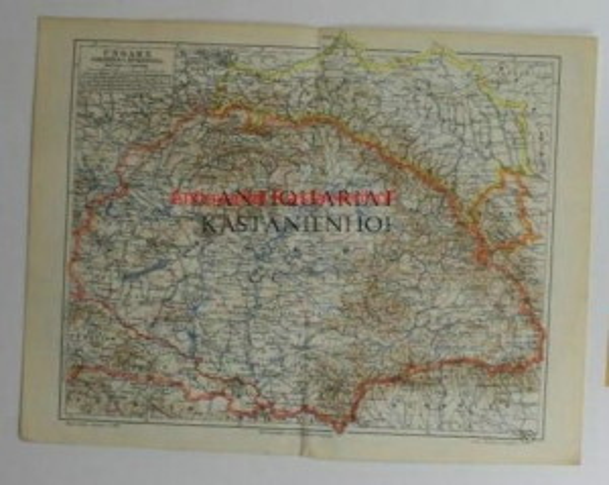Ungarn, Galizien u. Bukowina von 1897,Maßstab 1:3.000.000: Historische Landkarte KEIN