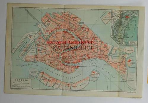 Venedig von 1897,Maßstab 1:13 250: Historische Landkarte KEIN