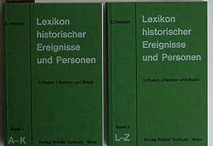 Konvolut zwei Bücher: Lexikon historischer Ereignisse und: Heinzel, Erwin