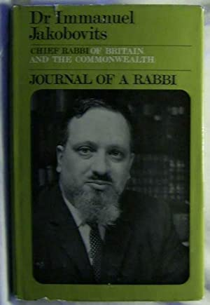 Journal of a Rabbi.,: Jakobovits, Immanuel
