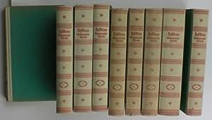 Gesammelte Werke, neun (9) Bände,,Deutsch von Johannes von Guenther u.a.; deutsche Erstausgabe,: ...