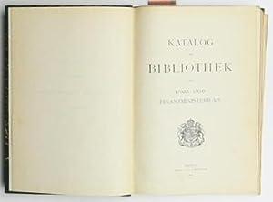 Katalog der Bibliothek des Königl. Sächs. Finanzministeriums.