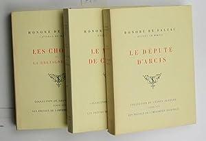Konvolut drei Bücher Etudes de moeurs:,1. Le depute d'Arcis; 2. Le medecin de Campagne; 3...