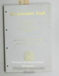 Germanischer Lloyd,Klassifikations- und Bauvorschriften, I - Schiffstechnik,: Hrsg.