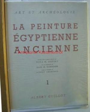 La peinture Égyptienne Ancienne. Tome 1-5. Préface Albert Champdor. ,40 planches couleurs avec le ...