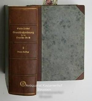 Konvolut 2 Bände Die Grundbuchordnung für das Deutsche Reich ,und die preussischen ...