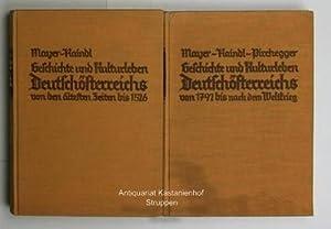 """Geschichte und Kulturleben Deutschösterreichs, zwei Bände,,Auf Grundlage der """"..."""