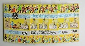 9 Volkskalender für Schlesier,,1950,1970;1984,1985,1986,1988,1989,1992,2012: Hayduk, Alfons (...
