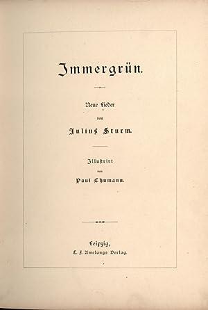 Immergrün,Neue Lieder,,: Sturm, Julius