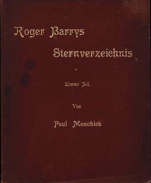 Roger Barrys Sternverzeichnis nach den Beobachtungen am Mauerquadranten der Sternwarte zu Mannheim ...