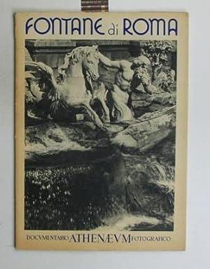 Fontane di Roma. Documentario athenaeum fotografico.,20 lose schwarz/weiß Bilder, vorn und hinten ...