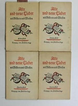 Konvolut vier Hefte - Alte und neue Lieder mit Bildern und Weisen,1. Erstes Heft mit Bildern von ...