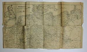 Eisenbahnkarte zu den Stormschen Kursbüchern 1921.,Massstab 1:2.550.000.: Diverse