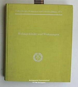 Wohngebäude und Wohnungen - Band 2,Volks-,Berufs-,Wohnraum- und Gebäudezählung am 1....