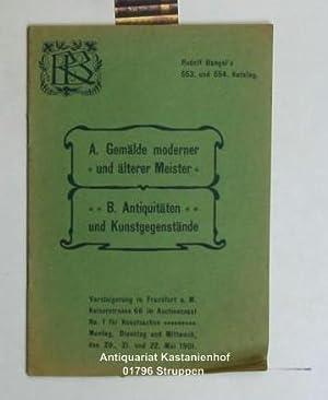 Rudolf Bangel's 553. und 554. Katalog. Verzeichnis: Bangel, Rudolf