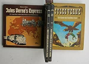 Konvolut 14 Romane in 13 Büchern von und über Jules Verne. 1. Die Kinder des Kapitä...