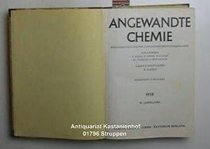 Angewandte Chemie 70. Jahrgang 1958.,Heft 1 - 24 gebunden. Herausgegeben von der Gesellschaft ...