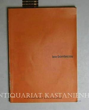 lee bontecou. Ausstellung. 1.3. - 7.4.1968, Städtisches: Bontecou, Lee