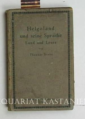 Helgoland und seine Sprache,Beiträge zur Volks- und Sprachkunde: Siebs, Theodor