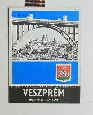 Veszprem. Terkep. Plan. Map. Kapta.,Ungarisch.: Diverse