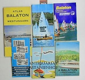 Konvolut 6 Karten und Reiseführer zum Balaton.: Diverse