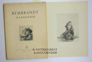 Rembrandt als Radierer. 16 Lichtdrucke. Mit Begleitheft: Rembrandt ; Angerholm,