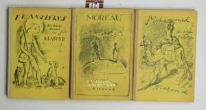 Konvolut 3 Romane von Klabund. 1. Mohammed. Der Roman eines Propheten.,Zweite Auflage. Einband nach...