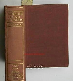 Konvolut 11 Bücher: Handwörterbuch der Naturwissenschaften in 10 Bänden plus Sachregister,KOMPLETT:...