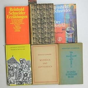 Konvolut 55 Bücher von und über Reinhold Schneider. 1. Weihnachtsgabe.,2. Weltreich und ...