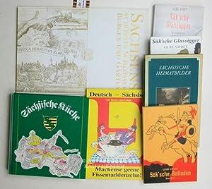 Konvolut 12 Bücher über Sachsen. 1. Sächsische Küche. 3. durchgesehene Auflage.,Herausgegeben vom ...