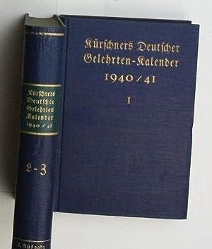 Kürschners Gelehrten-Kalender , 1940/41; zwei (2) Bände,,6. Ausgabe: Lüdtke, Gerhard...