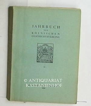 Jahrbuch des Kölnischen Geschichtsvereins, 33.: Reykers, Dr. Hans; Gertig, H.