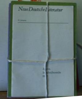"""Neue deutsche Literatur"""". Monatsschrift, 20. Jahrgang (1972). 12 Hefte."""