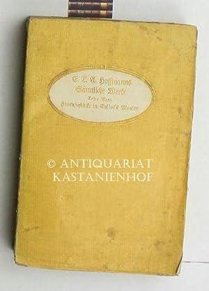 Sämtliche Werke, Erster Band: Fantasiestücke in Callots Manier.,: Hoffmann, E. T. A.