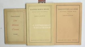 Konvolut drei Bücher:,1. Der silberne Strom, Gedichte; Widmung des Verfassers auf Vorsatz: ...