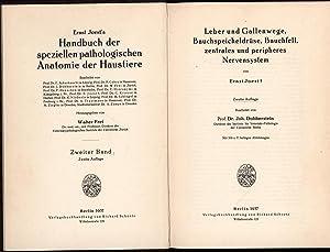 Handbuch der speziellen pathologischen Anatomie der Haustiere,hier 3 Bände (Band 1, 2 und 4); ...
