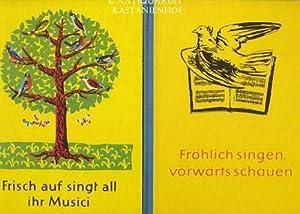 Konvolut 2 DDR-Musikbücher für Kinder. 1. Fröhlich singen, vorwärts schauen.,9. und 10. Klasse. 2. ...