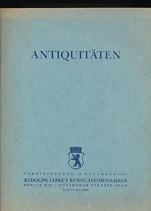 Antiquitäten aus Wiener und Hamburger Sammlungen, aus der Sammlung M.-Königsberg und ...
