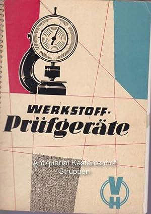 Werkstoffprüfgeräte. Staatliches Maschinen-Kontor,Ausgabe 1959/60. Katalog.: ...